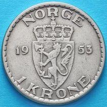 Норвегия 1 крона 1953 год.