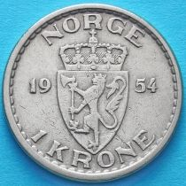 Норвегия 1 крона 1954 год.