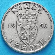 Норвегия 1 крона 1956 год.