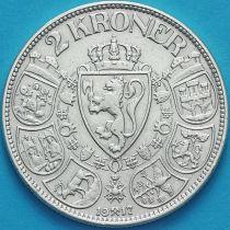 Норвегия 2 кроны 1917 год. Серебро.