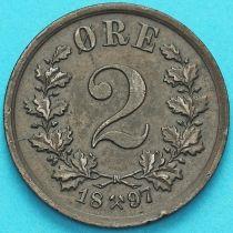Норвегия 2 эре 1897 год.