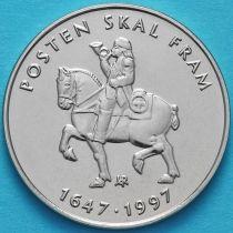 Норвегия 5 крон 1997 год. 350 лет Норвежской Почтовой Службе.