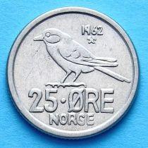Норвегия 25 эре 1962-1966 год. Птица.