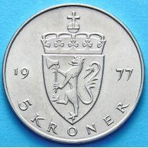 Норвегия 5 крон 1976-1983 г.
