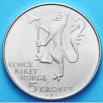 Норвегия 5 Крон 1978 год. Норвежской Армии 350 лет