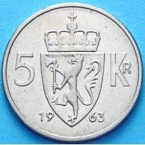 Норвегия 5 крон 1963-1972 г.