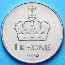 Норвегия 1 крона 1975-1985 год.