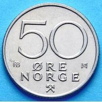 Норвегия 50 эре 1974-1993 год.