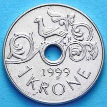 Норвегия 1 крона 1997-2003 год.