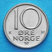 Норвегия 10 эре 1981-1991 год.