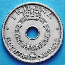 Норвегия 1 крона 1937, 1938 год.