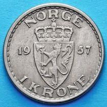 Норвегия 1 крона 1957 год.