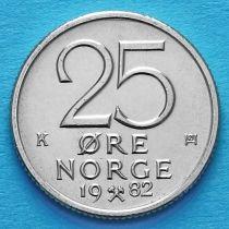 Норвегия 25 эре 1982 год.