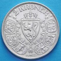 Норвегия 2 кроны 1912 год. Серебро.