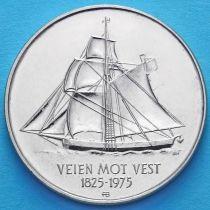 Норвегия 5 крон 1975 год. 150 лет иммиграции в Америку.