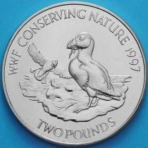 Олдерни 2 фунта 1997 год. Всемирный фонд дикой природы