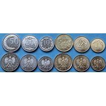 Польша 2013 г. Набор 6 Монет.