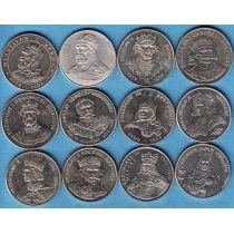 Польша набор монет 12 королей Польши