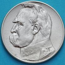 Польша 5 злотых 1934 год. Пилсудский. Серебро
