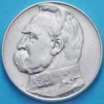 Польша 10 злотых 1936 год. Юзеф Пилсудский. Серебро