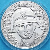 Польша 10 злотых 2004 год. Варшавское восстание. Серебро.