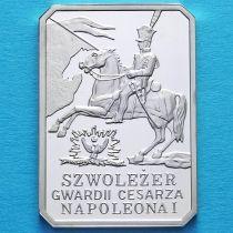 Польша 10 злотых 2010 год. Легкая кавалерия гвардии Наполеона I. Серебро.