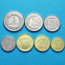 Польша набор 7 монет 2017 год. Новый дизайн.