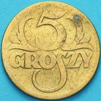Польша 5 грошей 1923 год. F