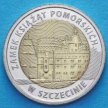 Польша 5 злотых 2016 год. Замок князей Поморских в Щецине