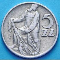 Польша 5 злотых 1960 год. Рыбак.