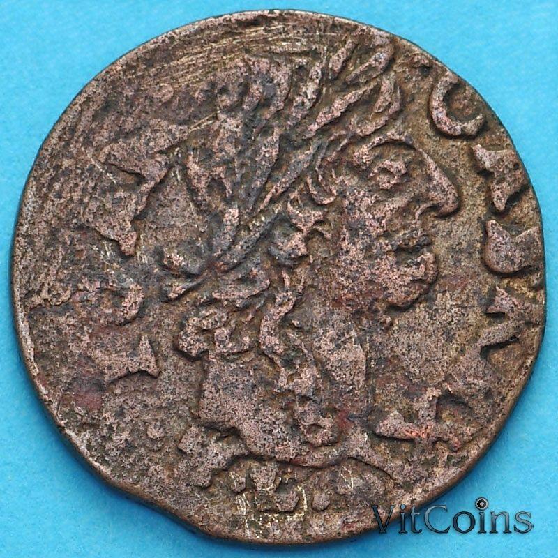 Монета Польша 1 солид 1666 год.