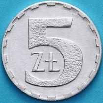 Польша 5 злотых 1990 год.