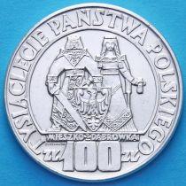 Польша 100 злотых 1966 год. 1000 лет Польскому Панству. Серебро