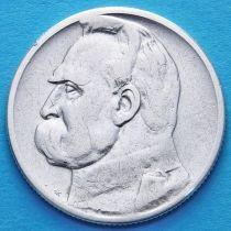 Польша 2 злотых 1934 год. Пилсудский. Серебро