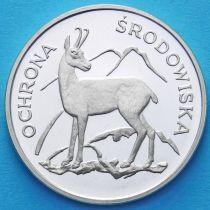 Польша 100 злотых 1979 год. Серна. Серебро