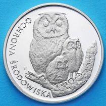 Польша 500 злотых 1986 год. Сова с совятами. Серебро
