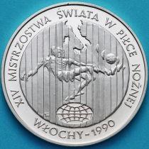 Польша 20000 злотых 1989 год. ЧМ по футболу 1990. Серебро.