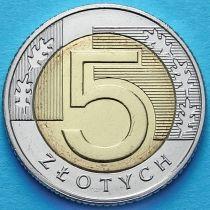 Польша 5 злотых 2017 год. Регулярный выпуск.