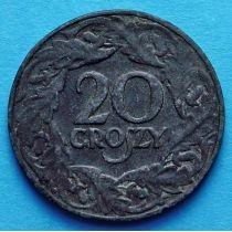 Польша 20 грошей 1923 год.
