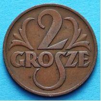 Польша 2 гроша 1937 год.