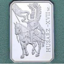 Польша 10 злотых 2009 год. Гусар XVII века. Серебро.