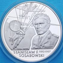 Польша 10 злотых 2004 год. Станислав Сосабовский. Серебро
