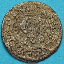 Ливония монета солид 1618 год. Сигизмунд III Ваза.