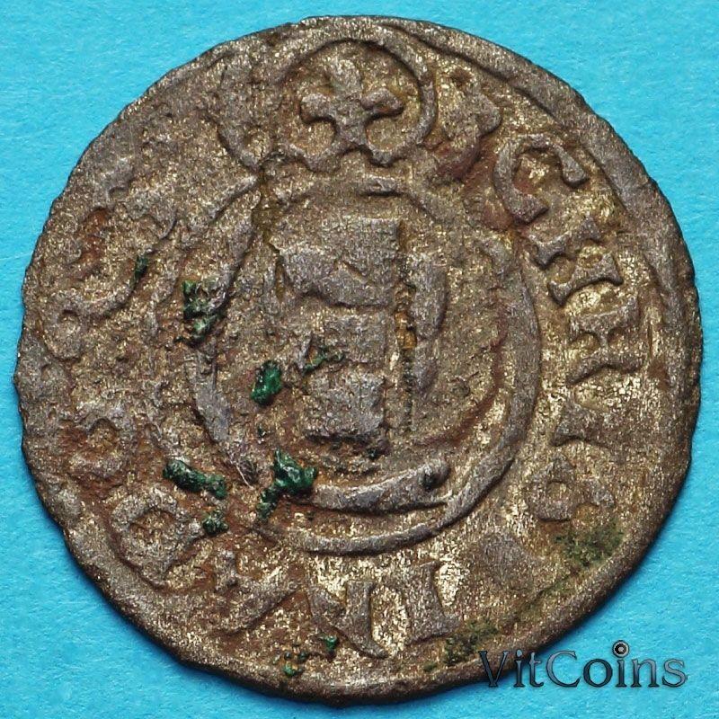 Ливония монета солид 1645 год. Кристина.