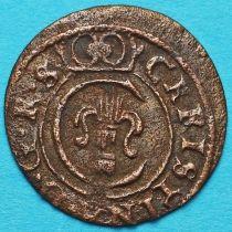Ливония монета солид 1658 год. Рига. Кристина.