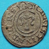 Ливония монета солид 1653 год. Кристина.