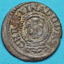 Ливония монета солид 1643 год. Рига. Кристина.