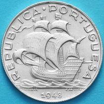 Португалия 5 эскудо 1948 год. Серебро.