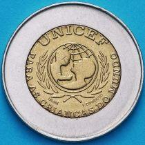 Португалия 100 эскудо 1999 год. ЮНИСЕФ.