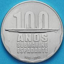 """Португалия 2.5 евро 2013 год. 100 лет подводной лодке """"Рыба-меч"""""""